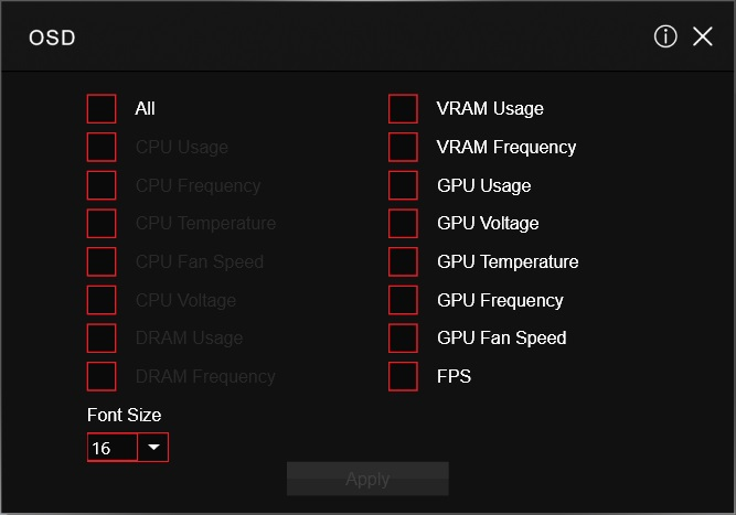 MSI-GTX1080 software