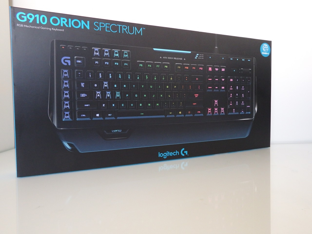 "703f9ced5bd The Logitech G910 Orion ""Spectrum"" hit the shelves at the same price as the G910  Orion ""Spark"" – you could be forgiven for being confused as they look ..."