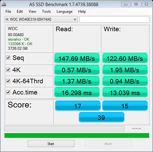 WD4TBBlueSSHD testing